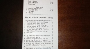 Another Receipt Causing Controversy