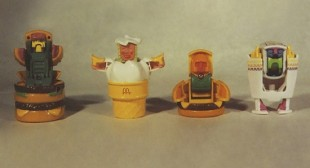 Five McAwesome vintage Happy Meal toys